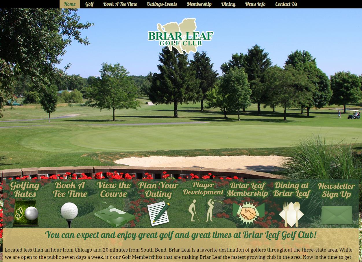 Website Design & Development – Briar Leaf Golf Club