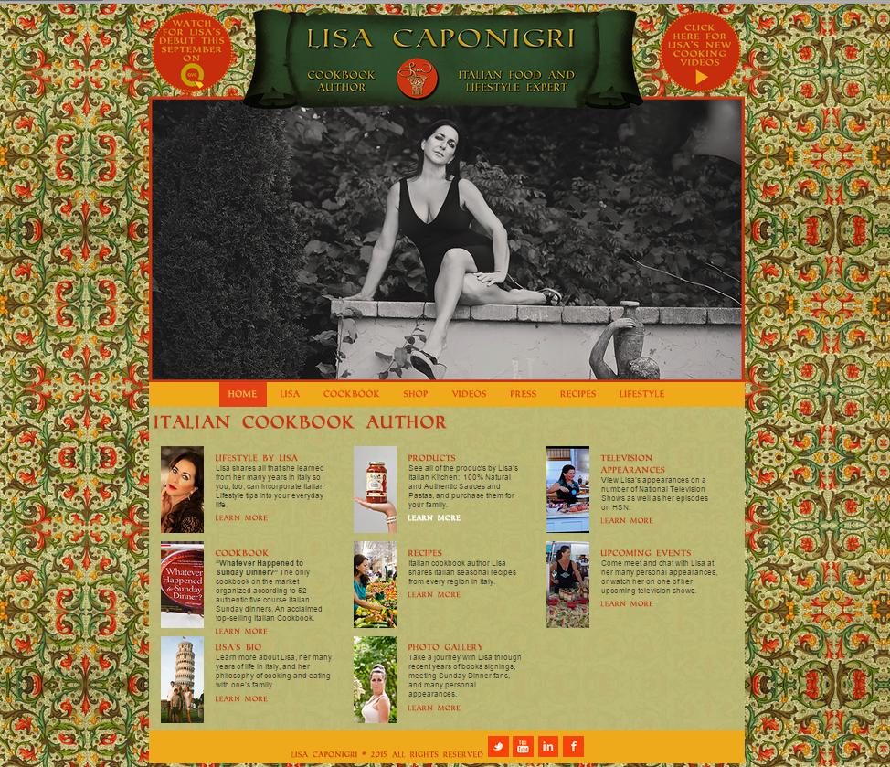 Lisa Caponigri website design
