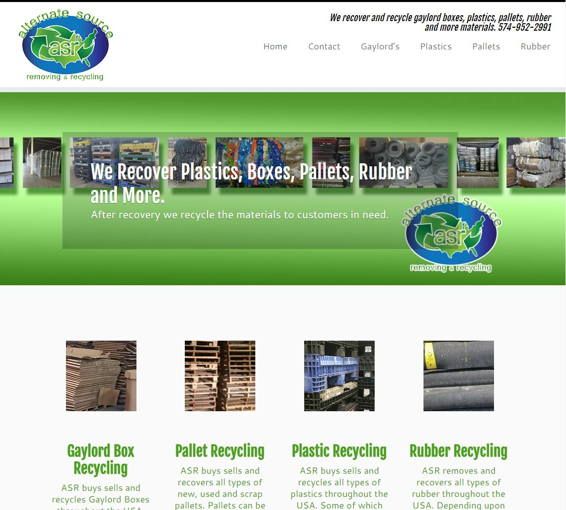 Website – Alternate Source Recycling