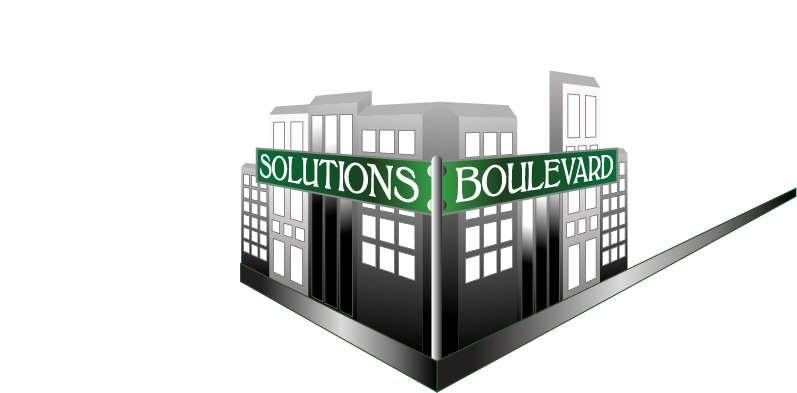 Solutions Boulevard Logo Design