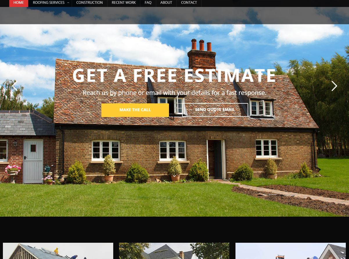 Reliable Roofing and Construction – Website