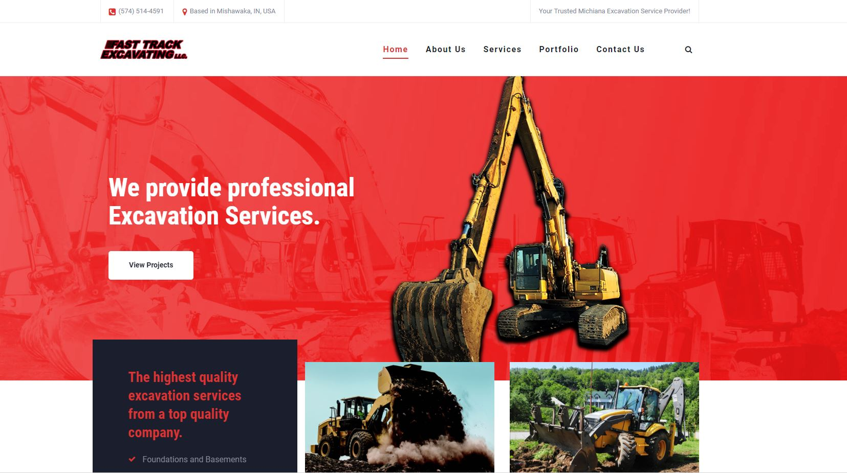 Fast Track Excavating Website