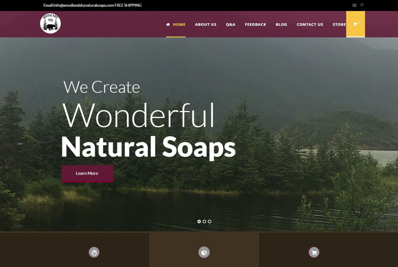 Woodland Sky E-Commerce Website