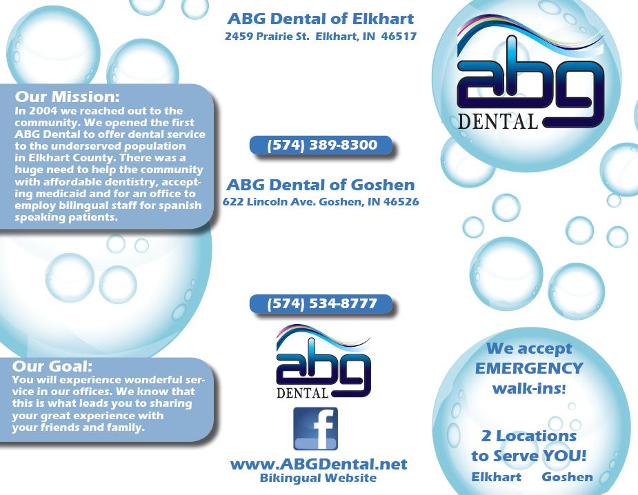 ABG Dental Tri-Fold Brochure