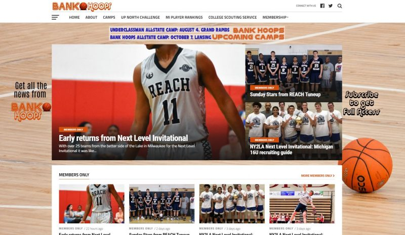 Bank Hoops Web Design